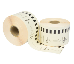 Brother DK-22223 etichette compatibili, 50mm x 30.48m, bianco, permanente